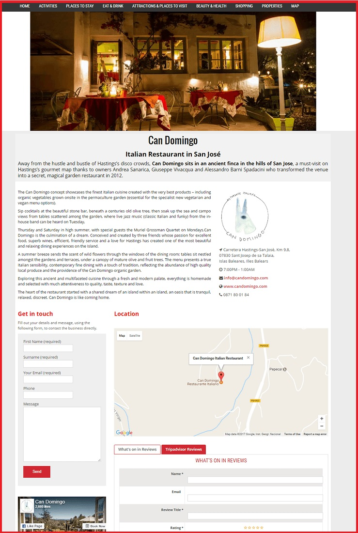 Sales Page Example when Advertise with us What's on in Truro.com
